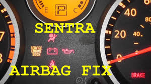 nissan sentra year 2000 model nissan sentra airbag light fix no tools required youtube