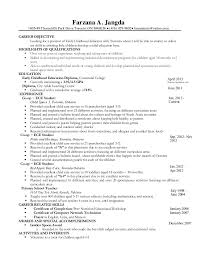 Sample Resume For Early Childhood Teacher by Sample Resume For Daycare Teacher Templates