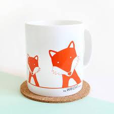 fox mug fox family selfie personalised mug by heather alstead design
