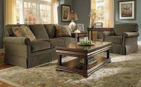 Broyhill Living Room Furniture Broyhill Furniture Chair And Ottoman With Skirt Wayside