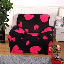 canapé lavable amour coeur chaise housse de canapé grand élasticité canapé
