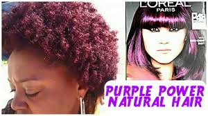deep velvet violet hair dye african america dyeing my natural hair l oreal feria purple power the curly