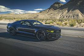 widebody muscle cars autodip world toshi u0027s widebody ford mustang in jet black