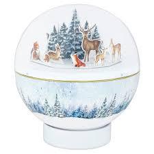 tesco musical snow globe biscuit tin 375g tesco groceries