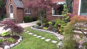 front yard landscaping ideas with rocks in of low windows gardens