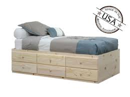 Twin Bed With Storage Extra Long Twin Bed Frame With Drawers Genwitch