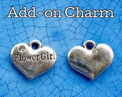 flower girl charms flower girl charm etsy