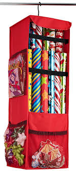 gift wrapping storage zober premium 600d oxford hanging gift wrap storage fits