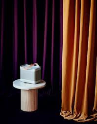 Burgundy Velvet Curtains Burgundy Ace Curtain By Louise Sigvardt For Kvadrat Camel Velvet