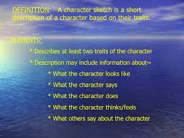 character sketch lessons tes teach