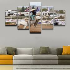 rodeo home decor poster hd printed canvas painting framework home decor 5 pieces