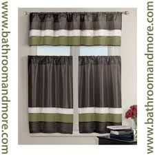 Kitchen Window Curtains by Kitchen Curtain Brown Decorate The House With Beautiful Curtains