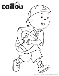 caillou face coloring pages coloring