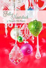 hanging ornaments spanish language christmas card greeting cards