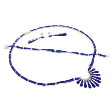 opal earrings necklace images Mexican blue fire opal silver necklace bracelet and earrings set jpg