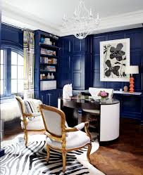 ikea besta blue home office eclectic with wood paneling window