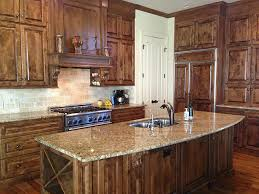 cute dark brown color high end kitchen island featuring rectangle