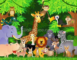 childrens wallpaper wall murals wallsauce animals in the jungle wall mural wallpaper
