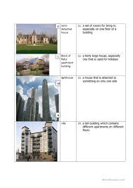 types of houses worksheet free esl printable worksheets made by