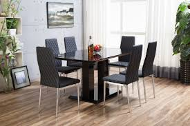 Black Gloss Dining Room Furniture Dining Table Black Glass Dining Table 6 Chairs Cheap Black
