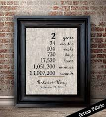 2nd wedding anniversary gifts cotton anniversary gift for wedding anniversary print