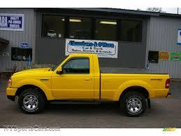 Ford Ranger Truck 4x4 - 2007 ford ranger sport regular cab 4x4 in screaming yellow photo