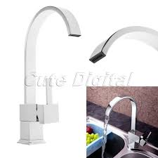 buy kitchen faucets aliexpress com buy chrome brass kitchen faucet square swivel