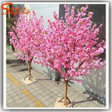 china high quality pink mini artificial tree cherry blossom