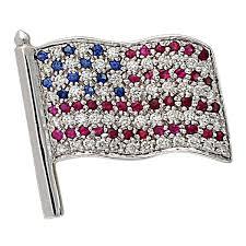 Us Flag 1860 Ruby Sapphire Diamond Gold American Flag Pin American Flag Pin