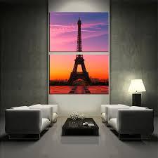 2 piece canvas wall art eiffel tower huge canvas print beautiful