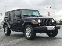 white jeep sahara 2015 used 2015 jeep wrangler sahara unlimited for sale in langley