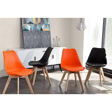 Orange Dining Chair Diamond Sofa Codachor Coda Retro Inspired Dining Chairs In Orange