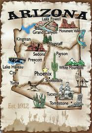 Arizona Map by Travel Illustrated Map Of Arizona Arizona Travel Illustrated Map