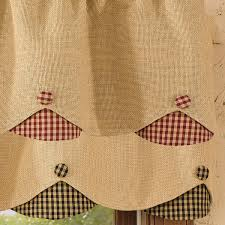 curtains burlap window valance plaid drapes burlap valance
