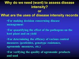 Plant Disease Control Methods - 1 3 assessment of disease intensity introduction and definitions