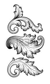 135 183 baroque ornament cliparts stock vector and royalty free