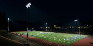 how tall are football stadium lights liberty high football stadium musco lighting