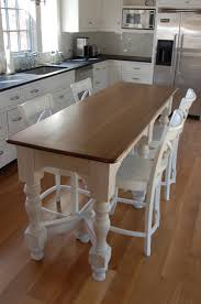 Wood Legs For Kitchen Island Your Small Family Could Gather At Dinner Time Happily Around This