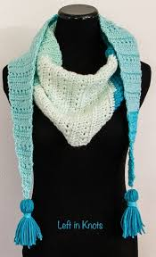 snow drops mod scarf a free crochet pattern u2014 left in knots