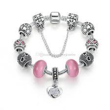 diy beaded charm bracelet images Elegant beaded charm bracelets with pink essence glass beads jpg