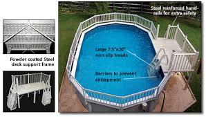 above ground pool decks bargain pool supplies