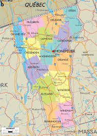Map Of New York Counties Detailed Clear Large Map Of Vermont Ezilon Maps