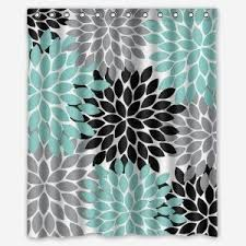 Green And Gray Shower Curtain Crafty Inspiration Teal And Grey Shower Curtain Curtains Gray From