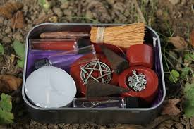 pagan altar kit pocket altar box travel altar portable