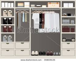Mens Interior Design Flat Design Walk Closet Interior Design Stock Vector 451077949