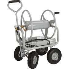 strongway garden hose reel cart u2014 holds 5 8in x 400ft l hose