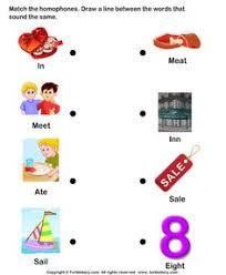 esl efl worksheets kindergarten worksheets homophone word