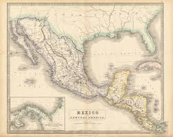 Guadalupe Mexico Map by Mexico And Central America Philip George Son 1852 Mapas