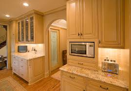 Toaster Oven Under Counter Mount Cabinet Mounted Microwave Kitchen Traditional With Arch Doorway