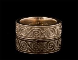 celtic ring 14kt gold celtic spiral motion wedding ring